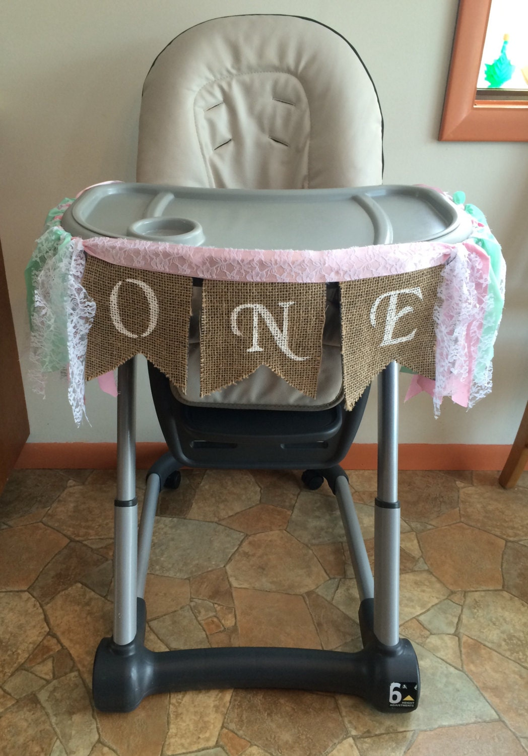 Girl High Chairs High Chair Banner First Birthday Girl One Year Old