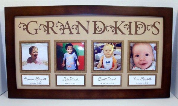 Grandkids Collage Frame 10x20 Personalized