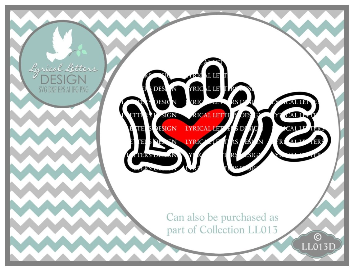 Download Sign Language I Love you Hand LL013 D Svg Cutting File