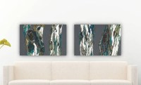 Diptych Extra LARGE wall art set Oversized Artwork by ...