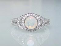 Opal cz ring | Etsy
