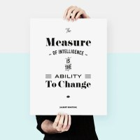 Large Size Albert Einstein Quote words of wisdom by ...