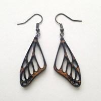 Wooden Butterfly Earrings Laser Cut Earrings Wood by ...