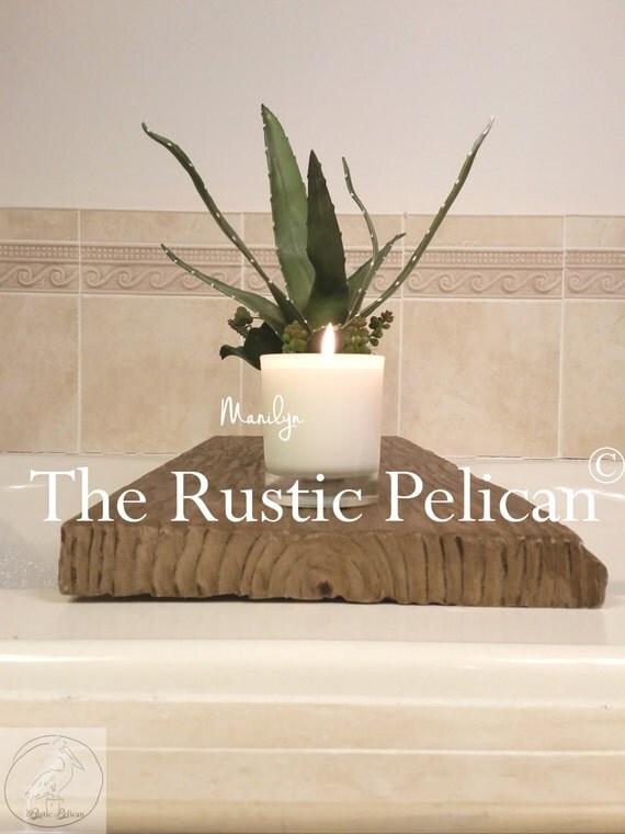 Rustic Bathtub Caddy Wood Bathtub Tray Bath By RusticPelican