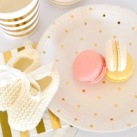 Gold Party Plates Gold Polka Dot Paper Plates Gold Plates