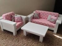 American Girl Furniture. 3 pc Living room set: by DutchDarling