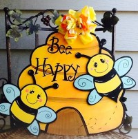 Bee door sign bumble bee door sign beehive door sign bee