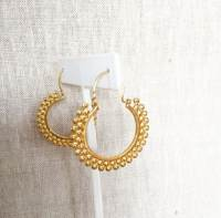 Indian Inspired Gold Hoop Earrings