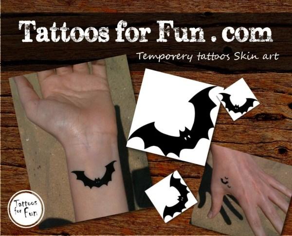 halloween bat temporary tattoo