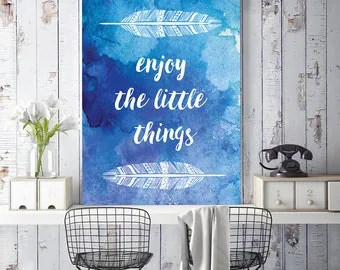 Items similar to Enjoy the Little Things, Inspirational ...
