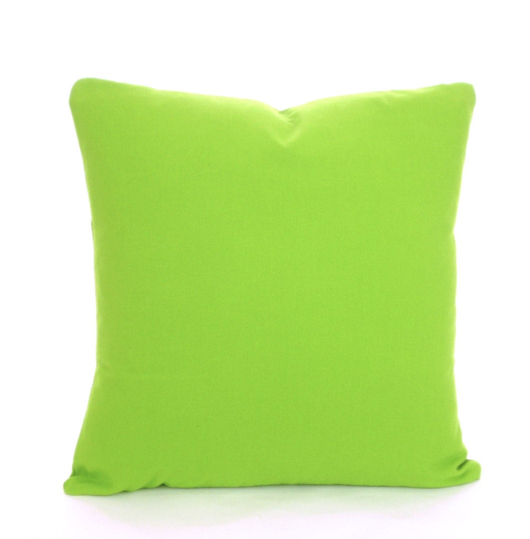 Solid Green Pillow Covers Decorative Throw by