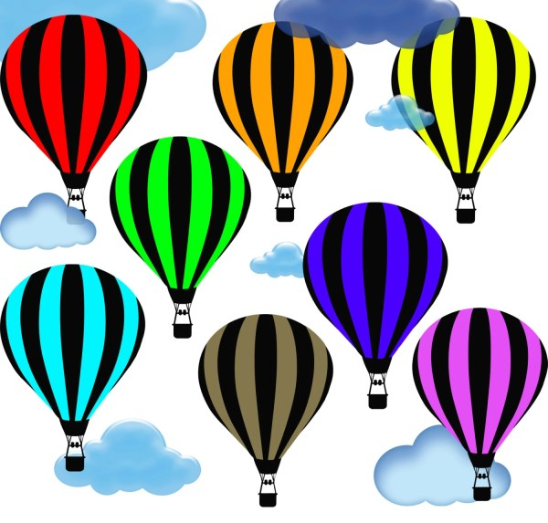 hot air balloon clip art printable