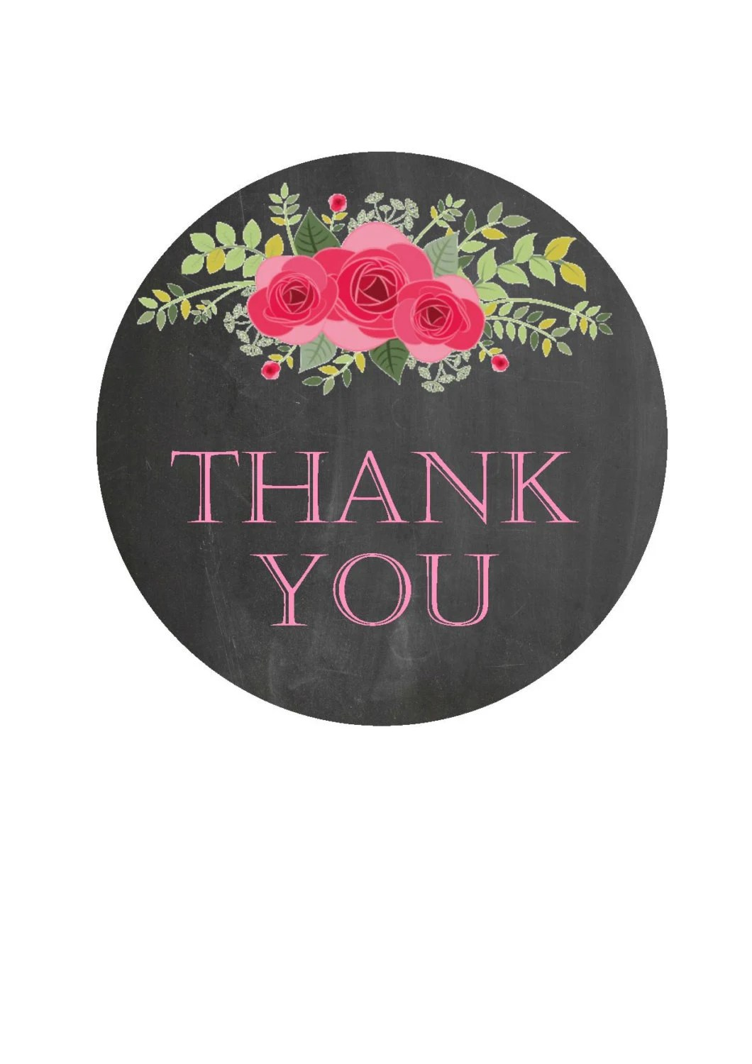 Thank You Stickers Thank You Labels Favor Stickers Round