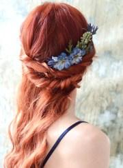 blue flower headpiece wildflower