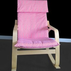 Poang Chair Covers Etsy Gaming Chairs Walmart Pink Geometric Cover