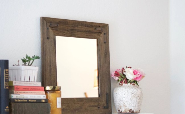 Reclaimed Wood Mirror Framed Mirror Bathroom Mirror 18 X