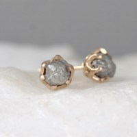 Diamond Earrings Conflict Free Rough Raw Uncut by ...