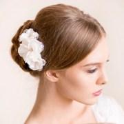 wedding flower hair piece bridal