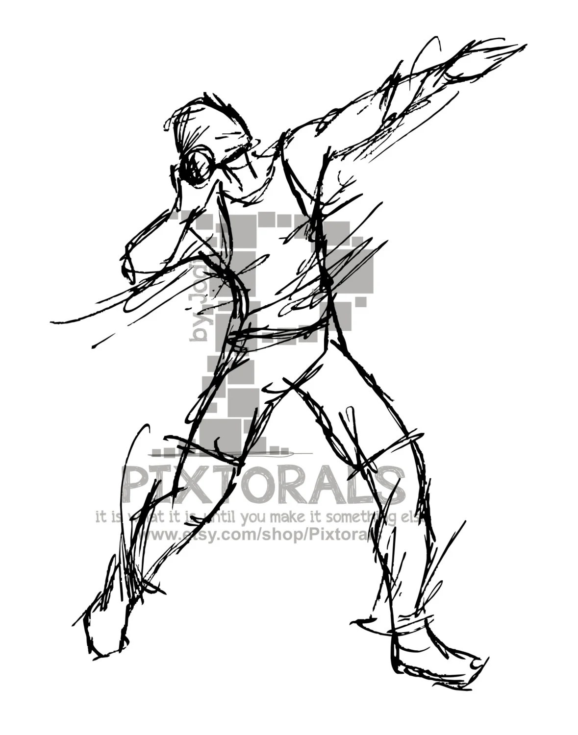 Track Shot Put Clipart Sketchy Eps File Vector And