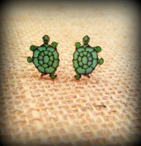 Turtle Earrings Tattoo Earrings Sailor Jerry Earrings