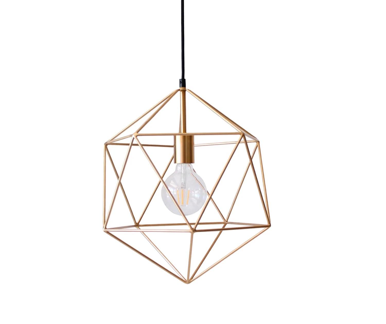 Geometric Pendant Light Handmade Hanging Light Cage Polyhedron