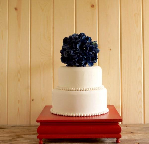 Red Cake Stand Square Cupcake