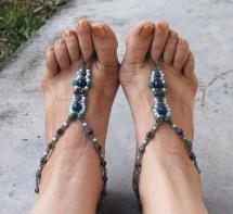 Beach Wedding Barefoot Sandals Pair