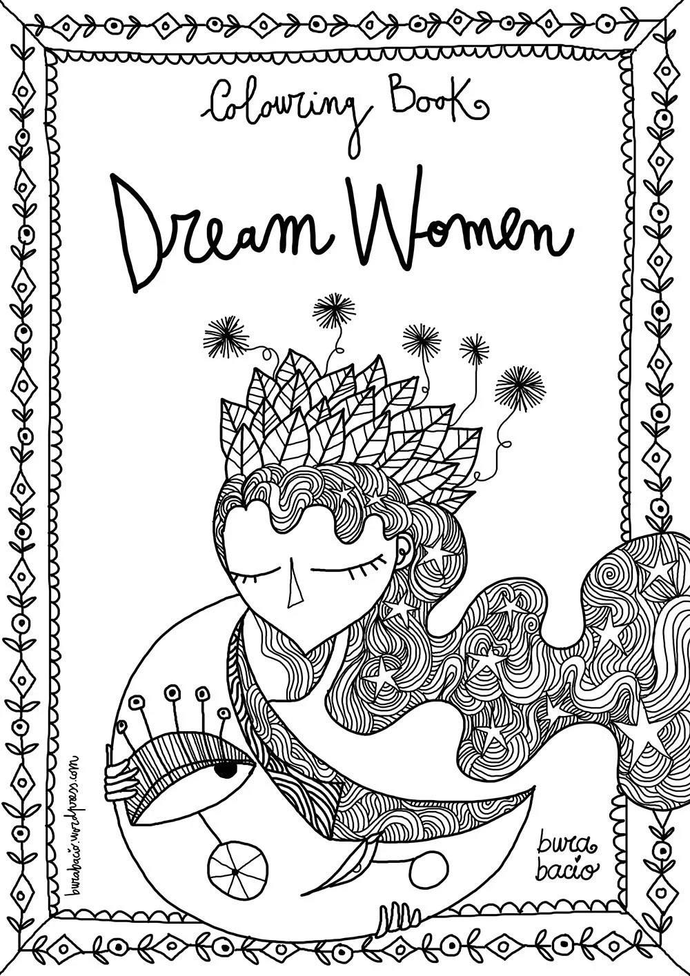 Dream Women Coloring book Download PDF Size A4