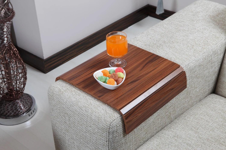 sofa arm tray wood no back table canadian walnut armrest
