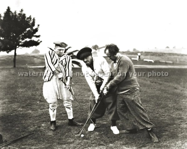 The THREE STOOGES GOLF Moe Curly Howard Larry by PictureRelic