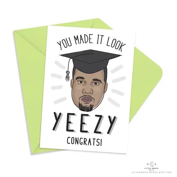Printable Kanye West Graduation Congratulations Card INSTANT