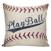 Baseball Pillow Cover 100% cotton front cotton or burlap
