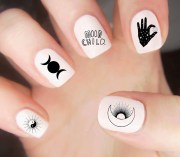 sun and moon nail decals
