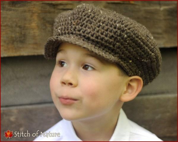 Crochet Pattern Belmont Scally Cap Hat 1920s