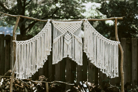 Macrame Wedding Backdrop Curtain Bohemian Modern