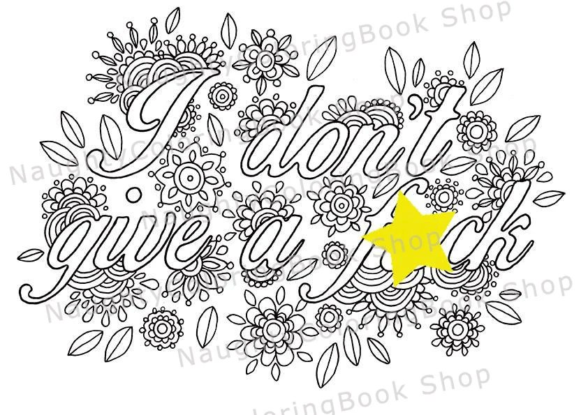 Art Therapy Graduation Gift Printable Coloring Page Swear
