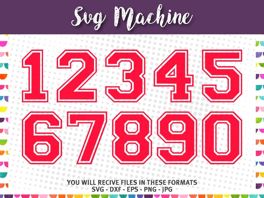 Download SVG sport numbers - Varsity Block Number - College Numbers ...