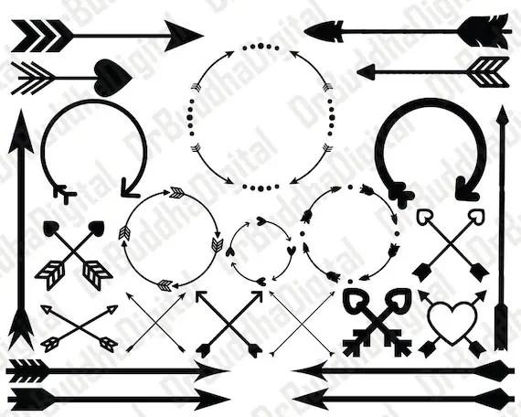 Sale Arrow Monogram Frame SVG Collection Arrow DXF Arrow