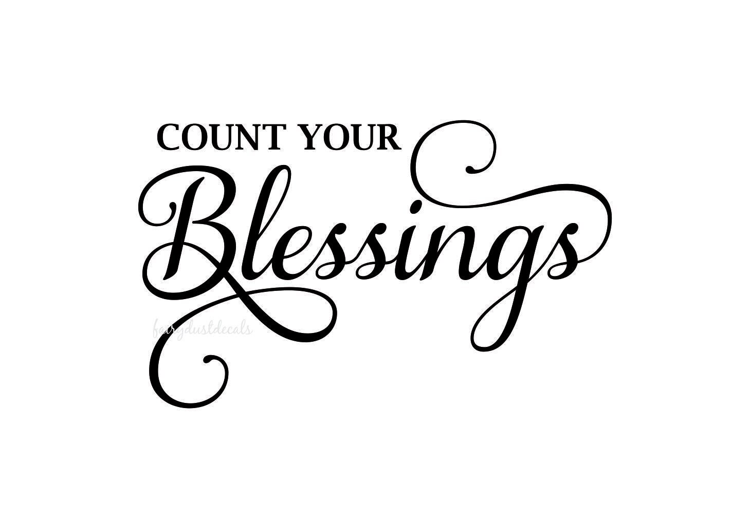 Count Your Blessings wall decal religious inspirational