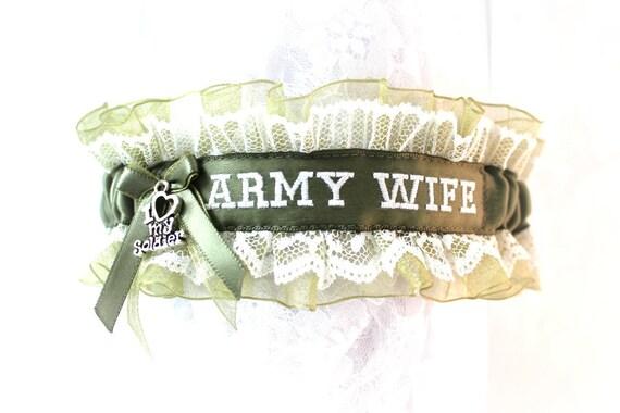 Army Wedding Garter Military Bride Garter Military
