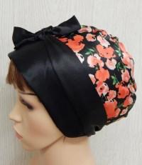 Satin head covering sleeping bandanna women's head wrap
