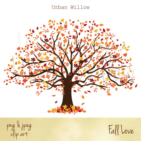 clipart fall tree autumn