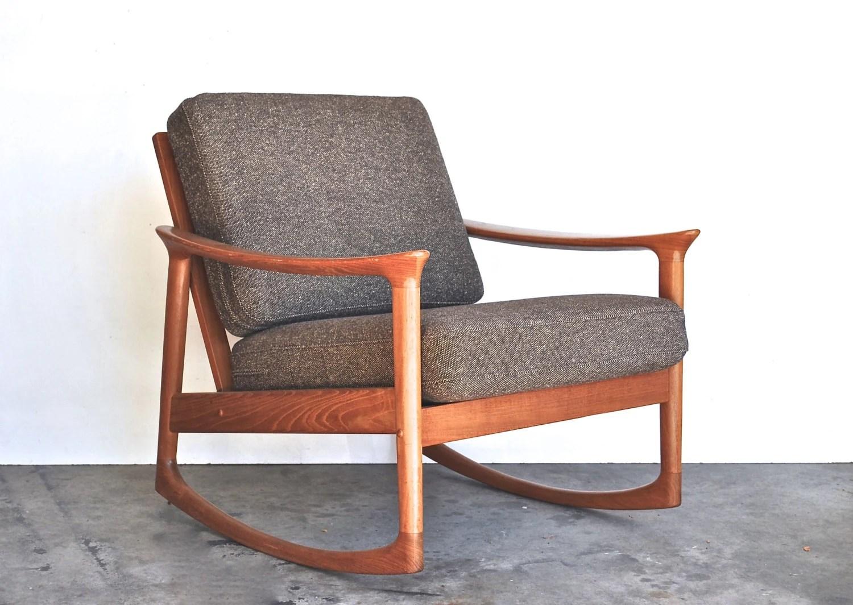 MidCentury Modern Rocking Chair Danish Modern Vintage