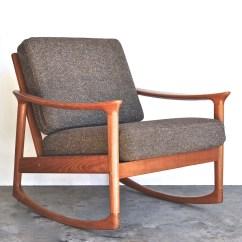 Danish Modern Rocking Chair Accent Arm Mid Century Vintage Furniture