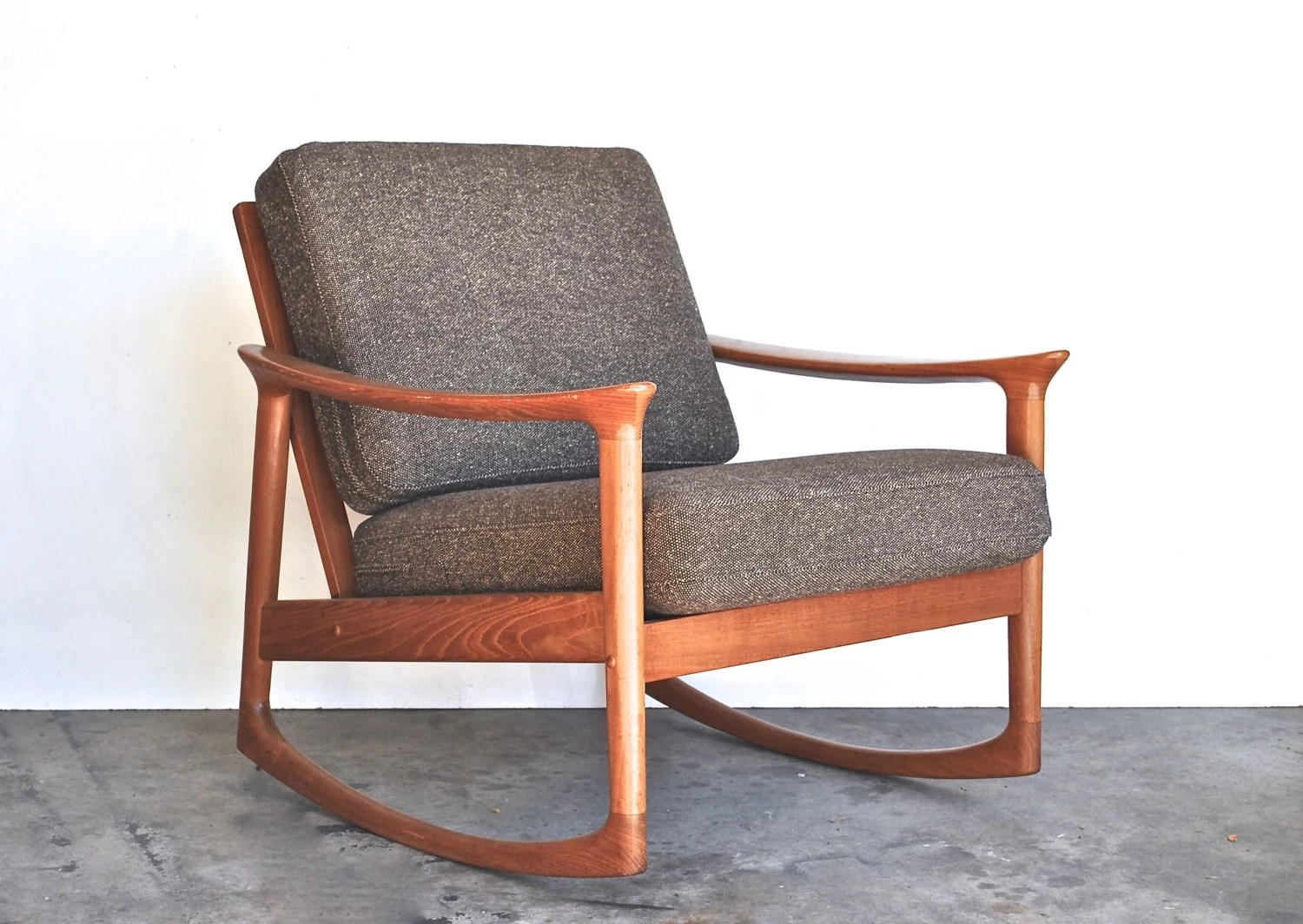 Midcentury Chairs Mid Century Modern Rocking Chair Danish Modern Vintage