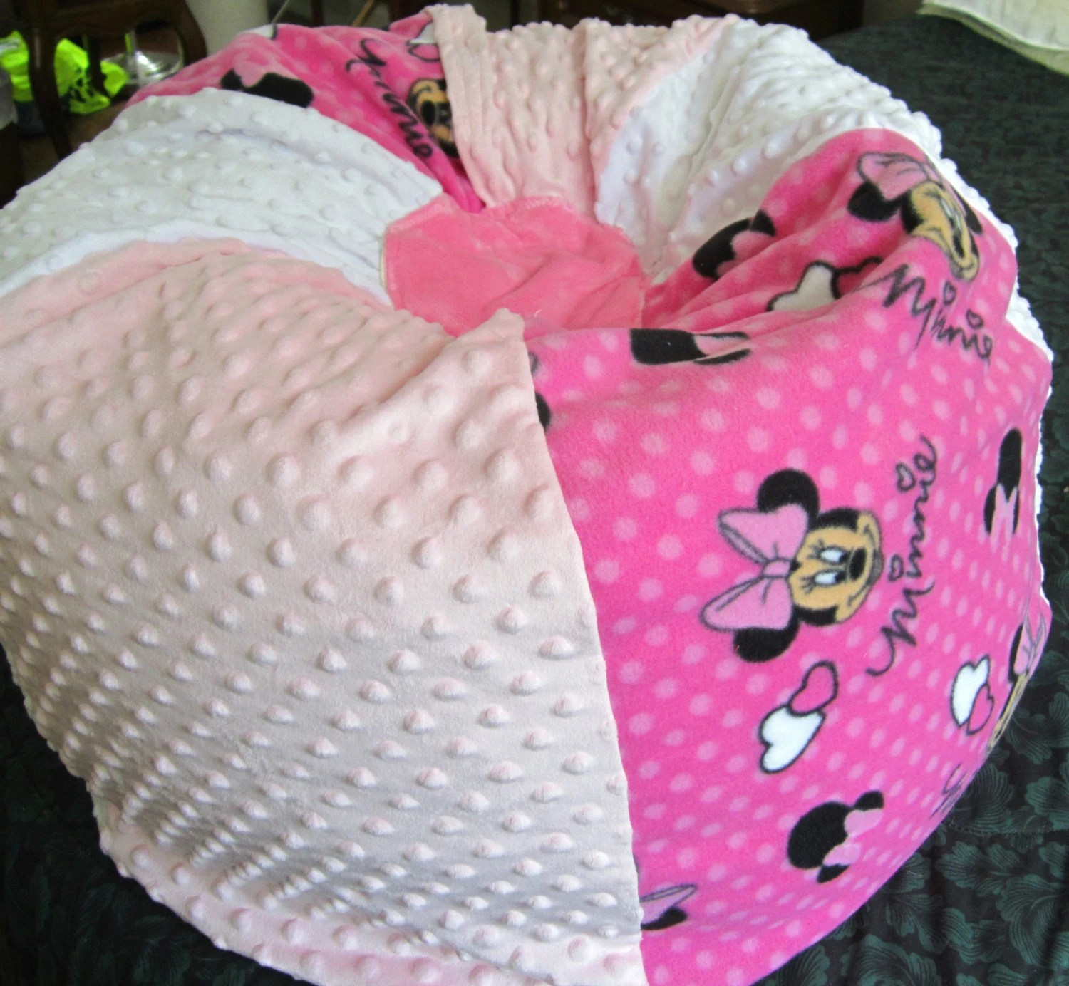 minnie mouse bean bag chair light pink spandex covers personalize your vacuum sealed
