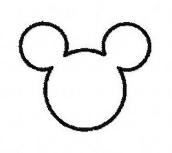 Disney Mickey Mouse outline applique machine embroidery
