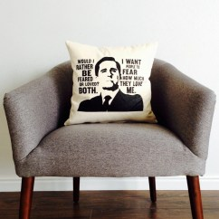 Chair Covers Michaels Gray Upholstered Dining Chairs The Office Tv Show Michael Scott Feared Or Loved Pillow