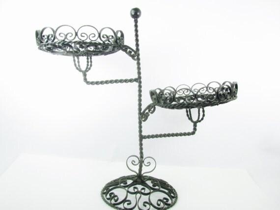 Wrought iron centerpiece cake standwedding candle holder