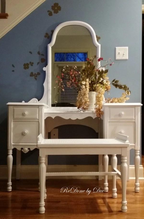 Antique Vanity Desk Secretary Dresser Ladies